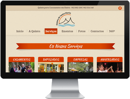 website quinta de santa maria